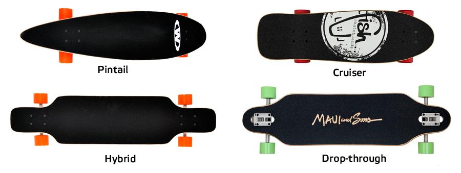 Typy longboardů