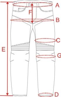 Velikost kalhot W-TEC Avontur