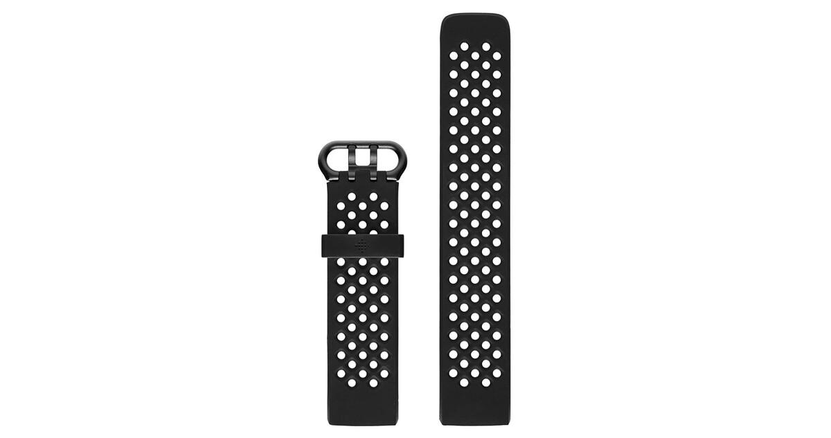 7e6799432 Náhradní řemínek Fitbit Charge 3 Sport Band Black - inSPORTline