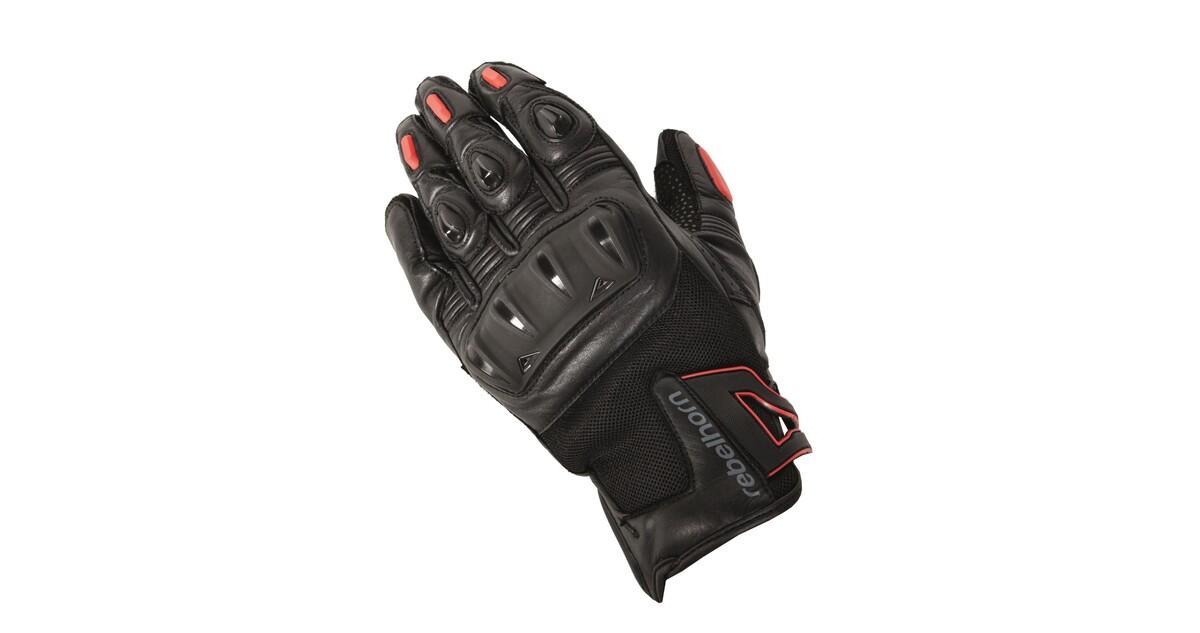 Pánské moto rukavice Rebelhorn Flux - černá - inSPORTline 3b461ffc21