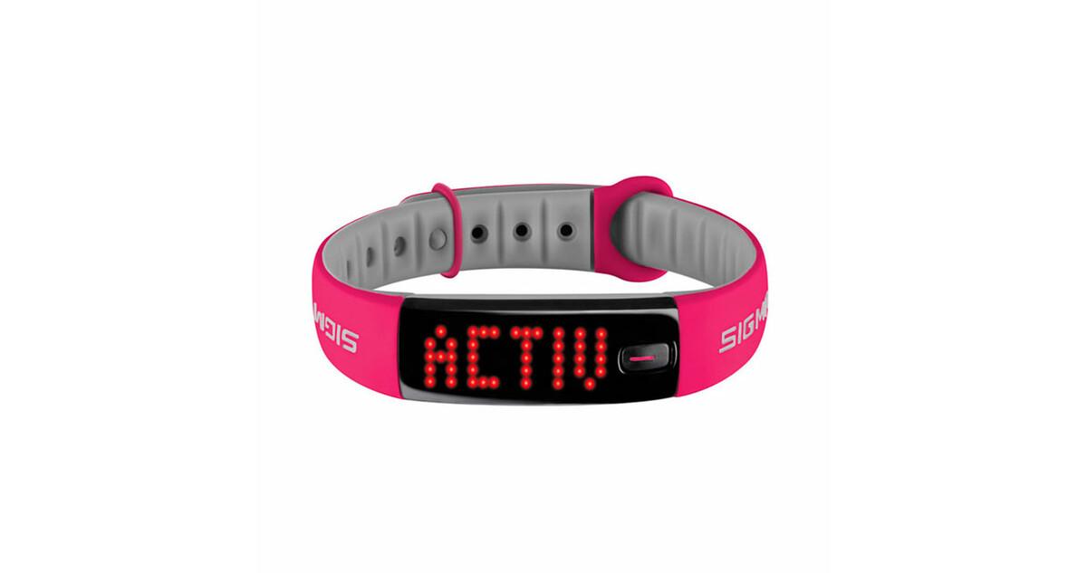 7d5bdaf41be Fitness náramek Sigma Activo - růžovo-šedá