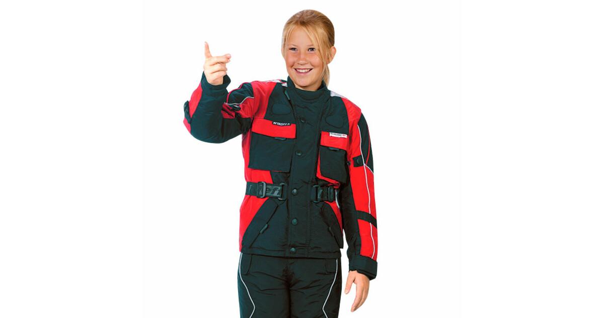 Dětská moto bunda Roleff TASLAN Kids - červeno-černá - inSPORTline f70603fe0e