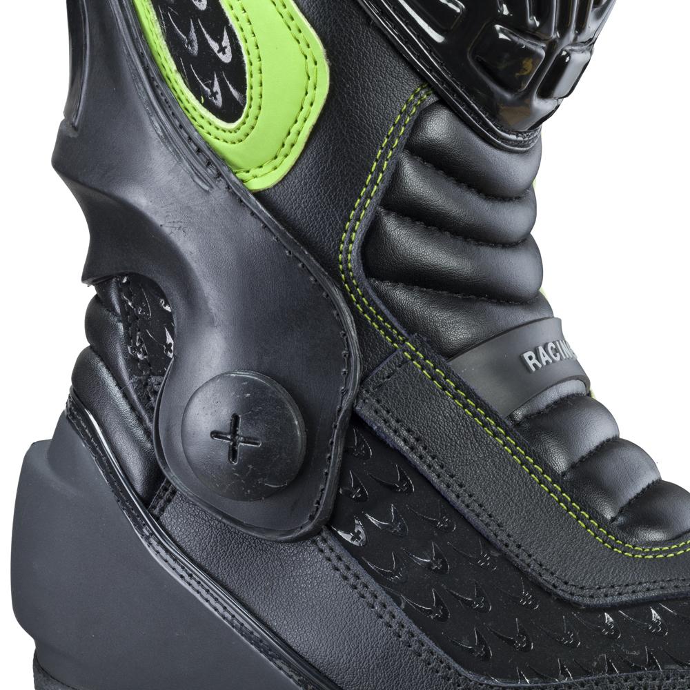 Pánské kožené moto boty W-TEC Brogun NF-6003 - fluo - inSPORTline 37fec97e5a