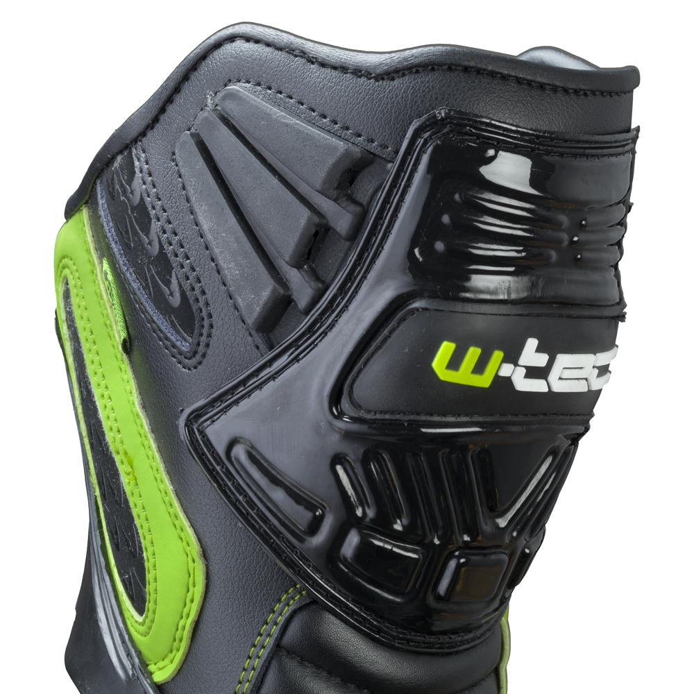 Pánské kožené moto boty W-TEC Brogun NF-6003 - zelená - inSPORTline 9f26ac5889