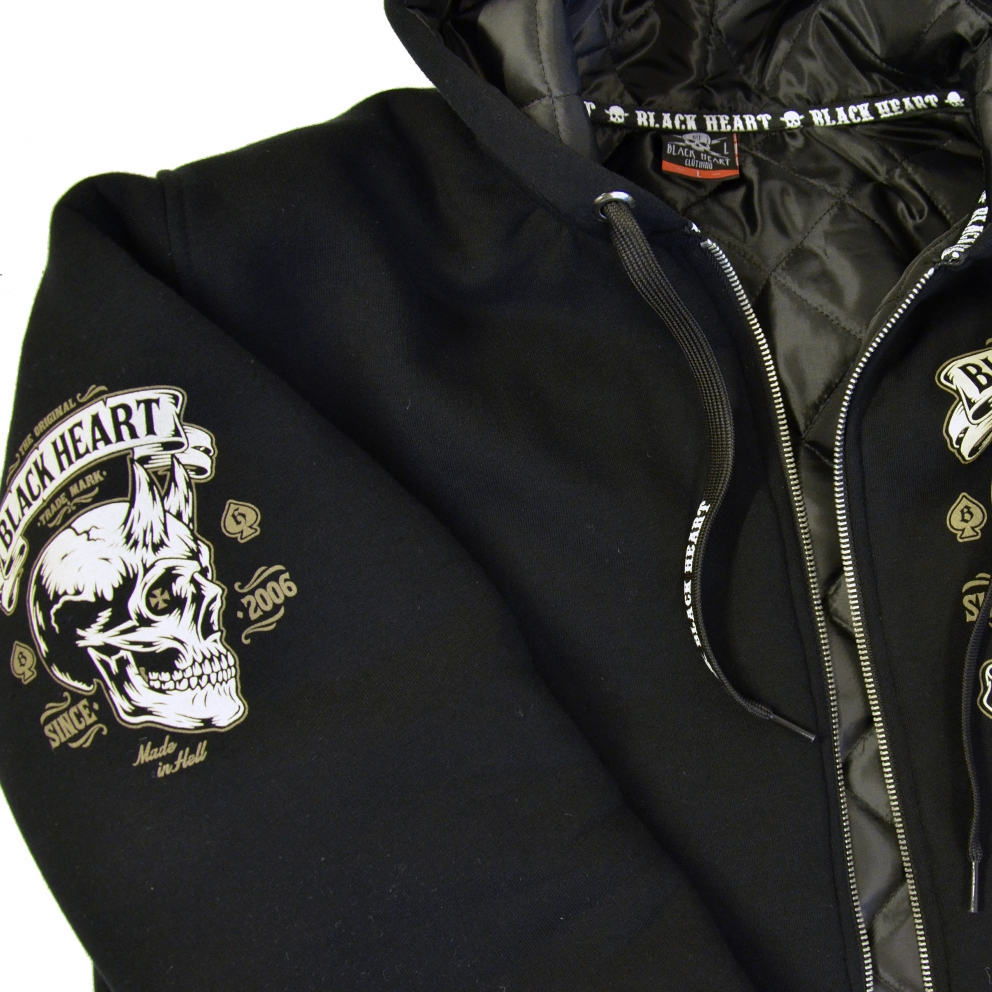 Mikina zateplená BLACK HEART Devil Skull Lined - inSPORTline 96c5585607