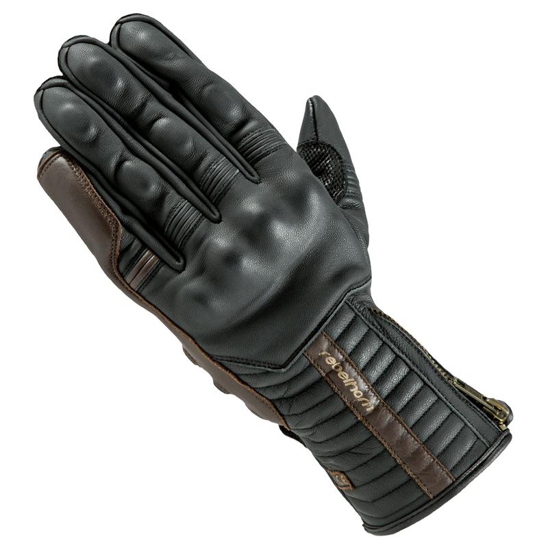 813d657b0e0 Kožené moto rukavice Rebelhorn Opium II Retro CE - černá - inSPORTline