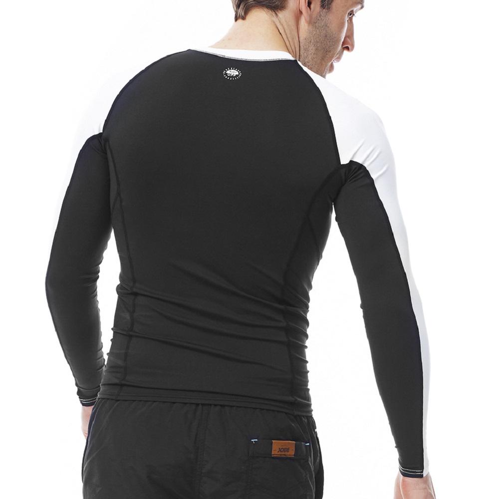 a1db6608eb7c Pánské tričko pro vodní sporty Jobe Rashguard s dlouhým rukávem -  černo-bílá. Kvalitní materiál ...