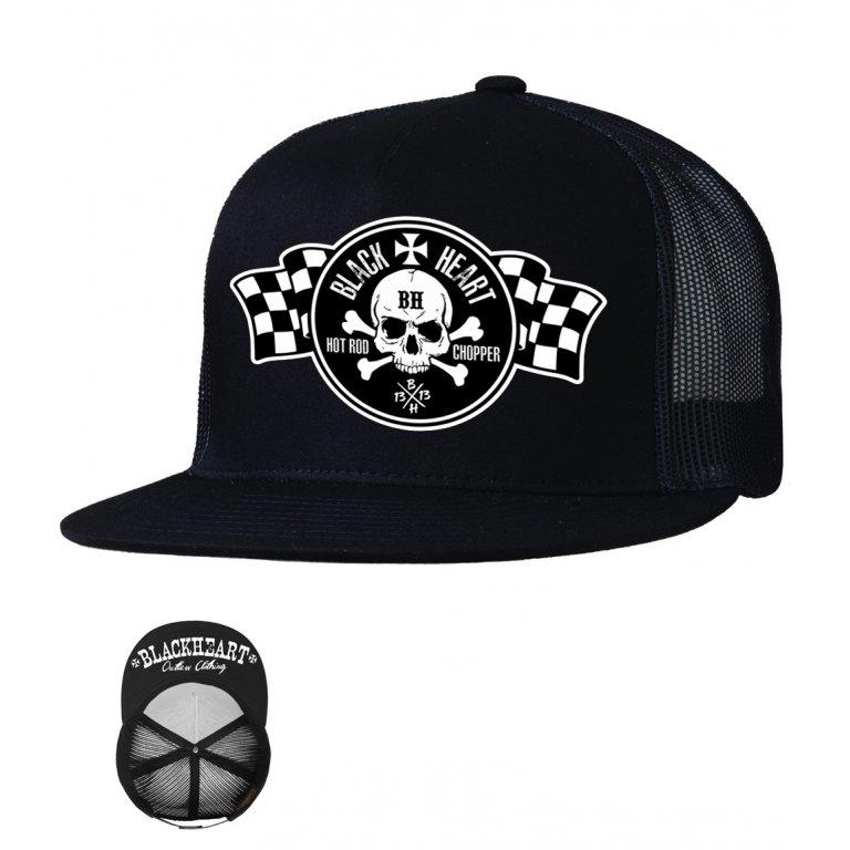 Kšiltovka BLACK HEART Flag Trucker - černá - inSPORTline 705bfb8079
