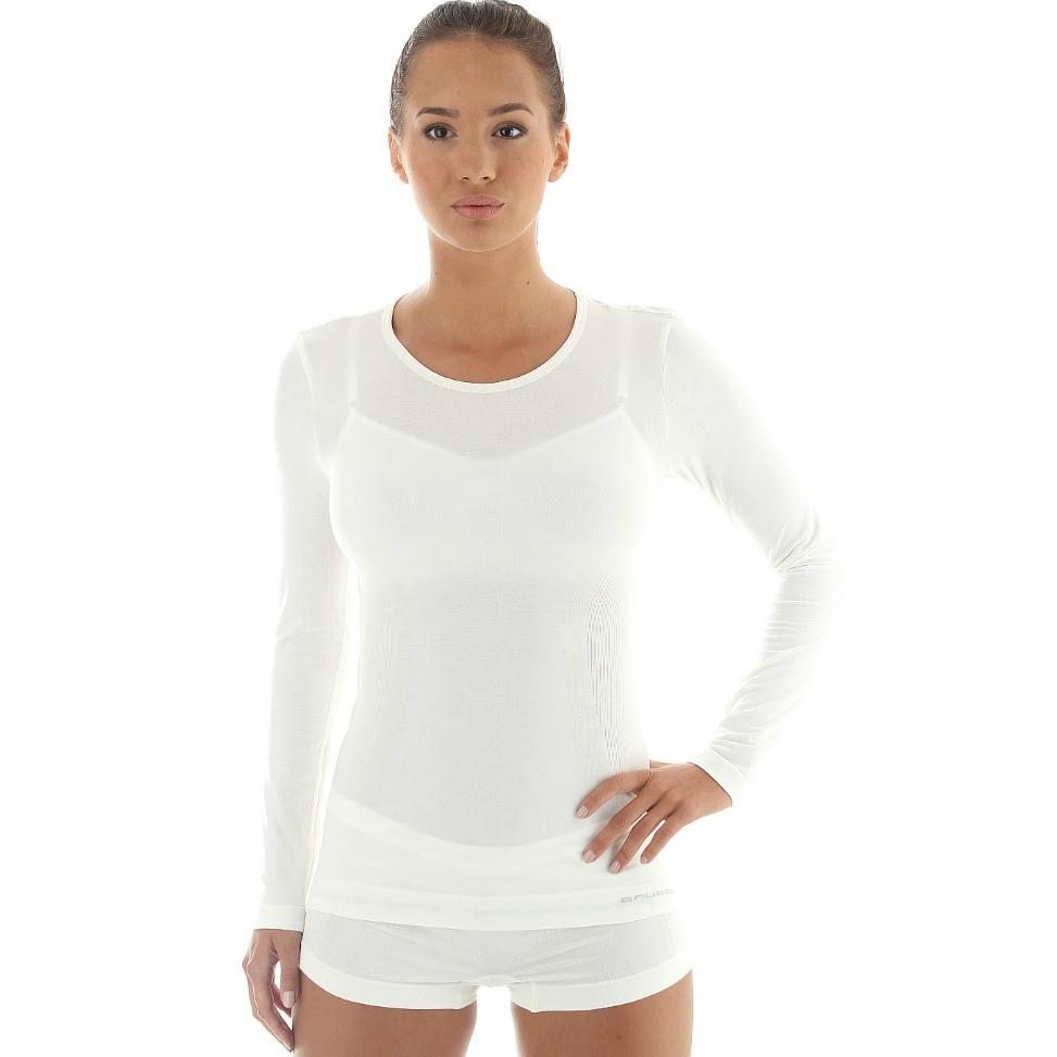 Dámské tričko Brubeck - vlna dlouhý rukáv - šedá - inSPORTline 41feef877c
