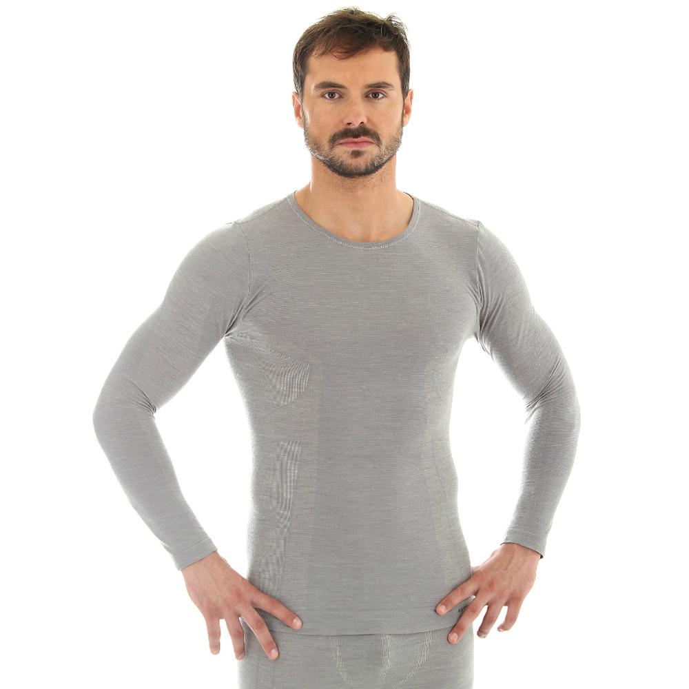 Pánské tričko Brubeck - vlna dlouhý rukáv - krémově bílá. Pánské ... 38dcbcae96
