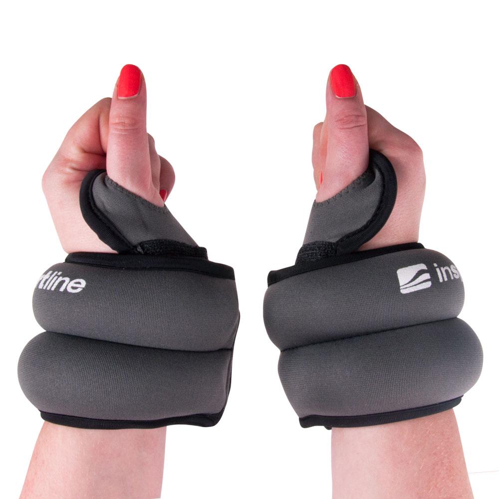 Neoprénové závaží na zápěstí inSPORTline 2x2 kg