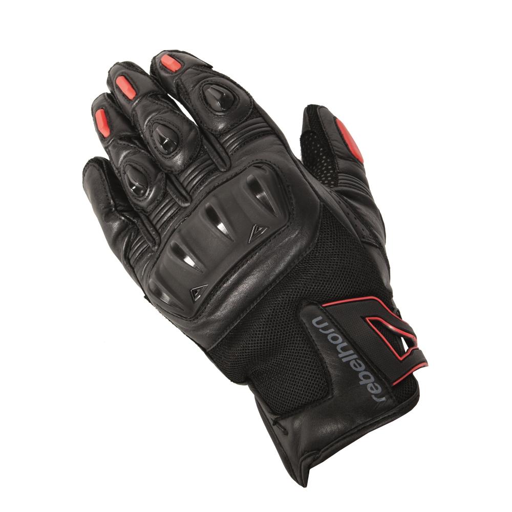 Pánské moto rukavice Rebelhorn Flux - černo-bílá - inSPORTline 99b706d740