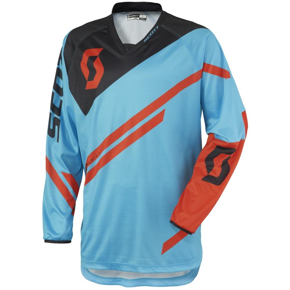 Moto dres Scott 350 Track - modro-oranžová 340cdacd28