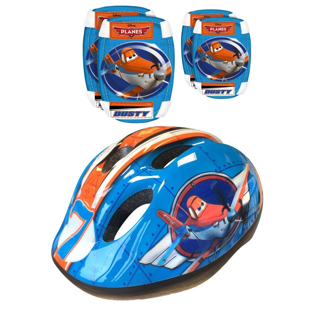 Sada Disney Planes - helma + chrániče loktů a kolen - inSPORTline 9f8ee3a160