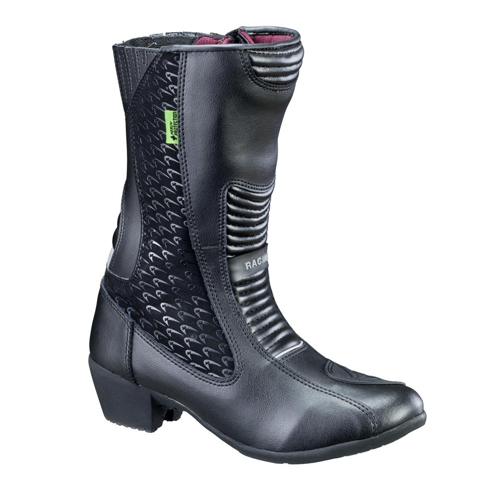 29e47b3ff04af Dámské kožené moto boty W-TEC NF-6090 - černá. Vysoké kožené boty ...