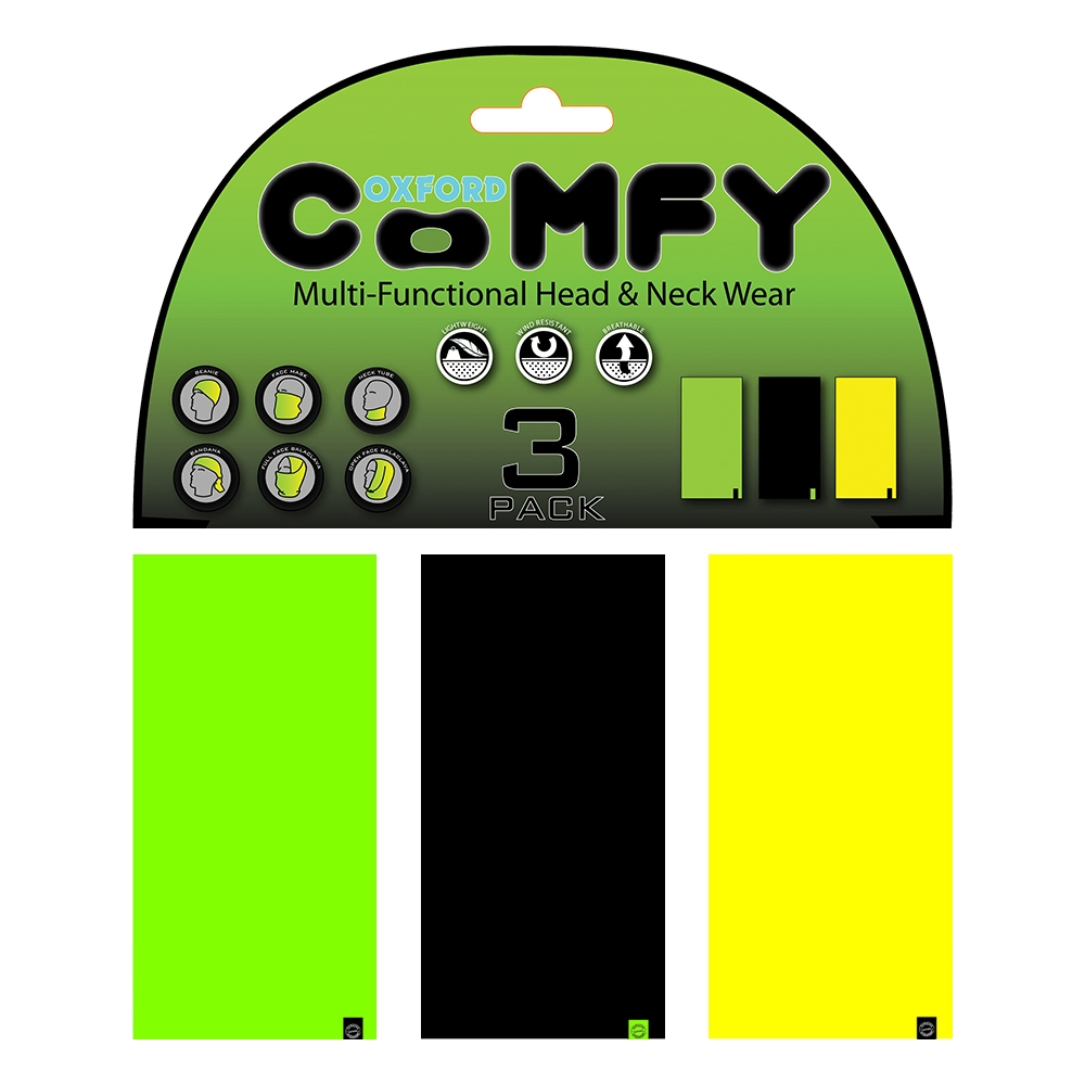 ffc0f1e014d Univerzální multifunkční nákrčník Oxford Comfy 3-pack - Double ...
