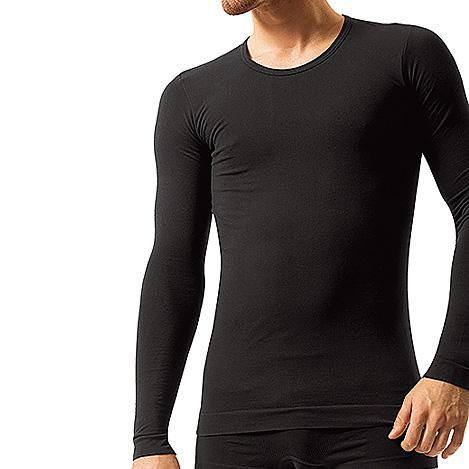 b17f3f614fd Pánské bezešvé bavlněné tričko Brubeck - dlouhý rukáv - inSPORTline