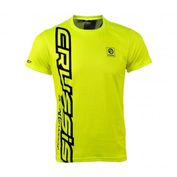 Pánské triko s krátkým rukávem CRUSSIS fluo žluté - inSPORTline fabe936f94