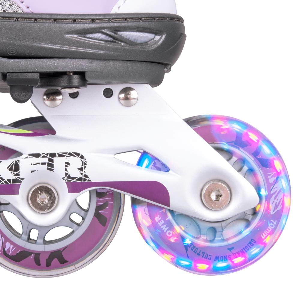 Kolečkové brusle WORKER Perleta LED - se svítícími kolečky