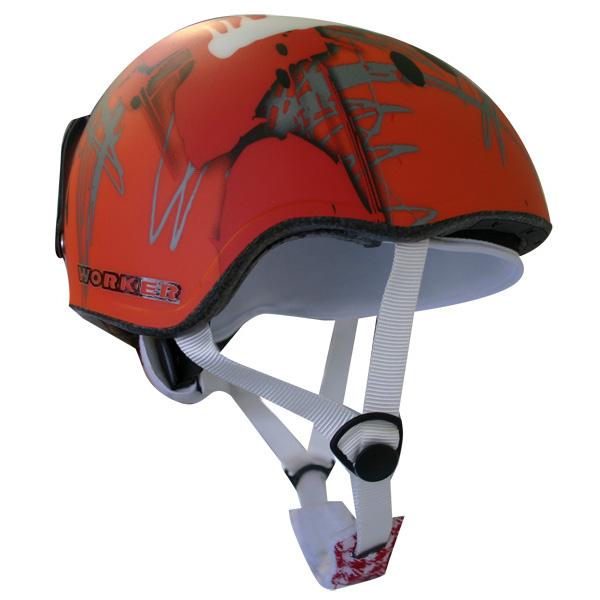 207a08b61 Snowboardová přilba WORKER Flux - 2.jakost - červená s grafikou ...