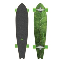 "Longboard Street Surfing Fishtail - The Leaf 42"" 2015 - Stříbrný truck"