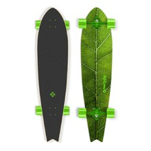 "Longboard Street Surfing Fishtail - The Leaf 42"" - Zelený truck"