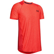 Pánské triko Under Armour Raid 2.0 SS Left Chest - Martian Red