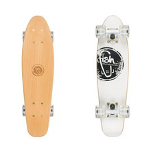"Dřevený penny board Fish Classic Wood 22"" - Logo White"