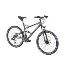 "Celoodpružené kolo DHS Terrana 2645 26"" - model 2016 - Gray-Black-Green"