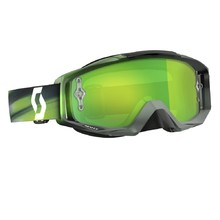 Moto brýle SCOTT Tyrant MXVI - speed grey-green-green chrome