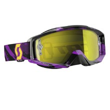 Moto brýle SCOTT Tyrant MXVI - zebra purple-yellow-yellow chrome