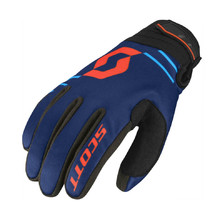 Moto rukavice SCOTT 350 Insulated MXVII - Blue-Orange