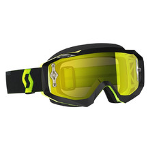 Moto brýle SCOTT Hustle MX CH MXVII - black-fluo yellow-yellow chrome