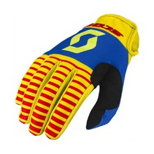 Moto rukavice SCOTT 350 Track MXVII - Yellow-Red