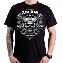 Tričko BLACK HEART Piston Skull