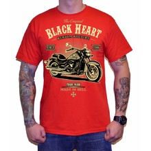 Triko BLACK HEART Harley Red - červená