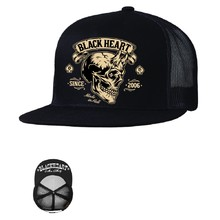 Kšiltovka BLACK HEART Devil Skull Trucker