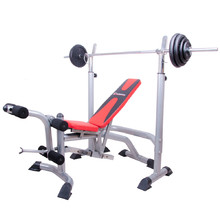 Bench press lavice inSPORTline LKM904 + závaží + hřídel