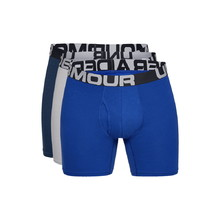 Pánské boxerky Under Armour Charged Cotton 6in 3 páry - Royal