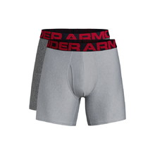 Pánské boxerky Under Armour Tech 3in 2 páry - Mod Gray Light Heather