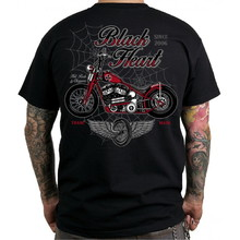 Triko BLACK HEART Red Baron Chopper