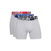 Pánské boxerky Under Armour Charged Cotton 6in 3 páry - Mod Gray Medium Heather