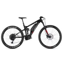 "Celoodpružené elektrokolo Ghost Hybride SL AMR X S3.7+ AL 29"" - model 2019 - Night Black / Iridium Silver / Riot Red"