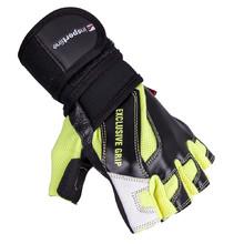 Kožené fitness rukavice inSPORTline Perian - černo-žlutá f769691314