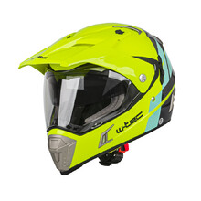 Moto přilba W-TEC Dualsport - Fluo Yellow-Blue