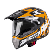 Moto přilba W-TEC Dualsport - Black-Fluo Orange