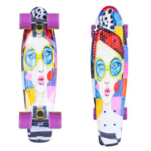 Penny board ArtFish Face 22""