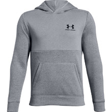 Chlapecká mikina Under Armour EU Cotton Fleece Hoody - Steel Light Heather