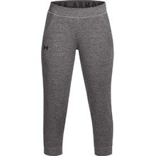 Dámské legíny Under Armour Featherweight Fleece Crop - Charcoal Medium Heather