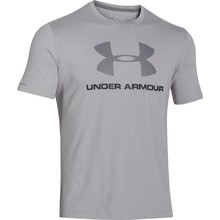Pánské triko Under Armour CC Sportstyle Logo - True Gray Heather